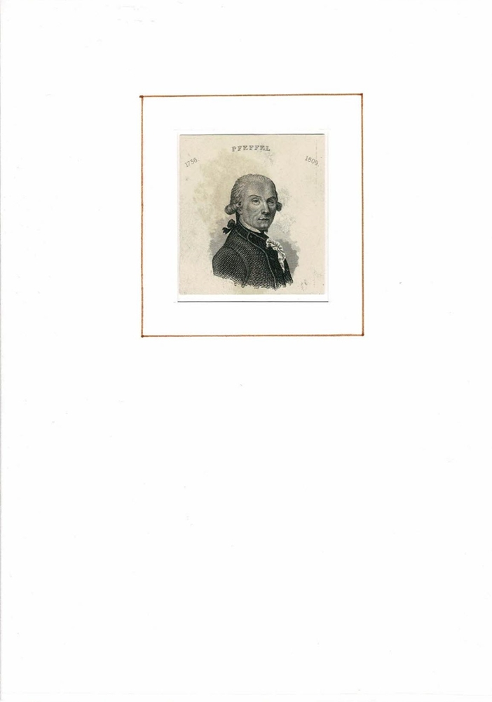 PORTRAIT Gottlieb Conrad Pfeffel. (1736 Colmar -: Pfeffel, Gottlieb Conrad.
