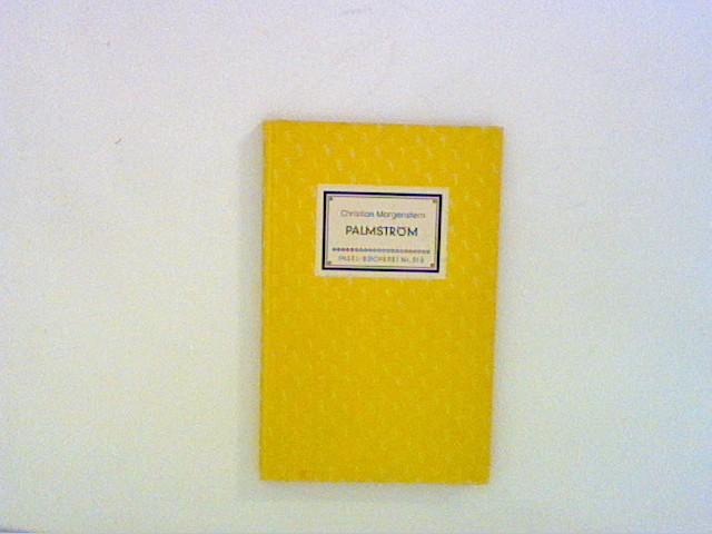 Palmström Insel-Büchereri, Nr. 318: Morgenstern, Christian: