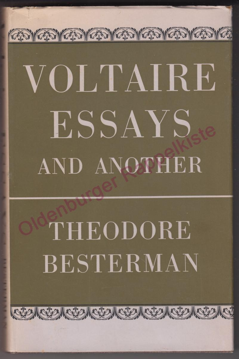 Voltaire Essays and Another (1962): Besterman,Theodore