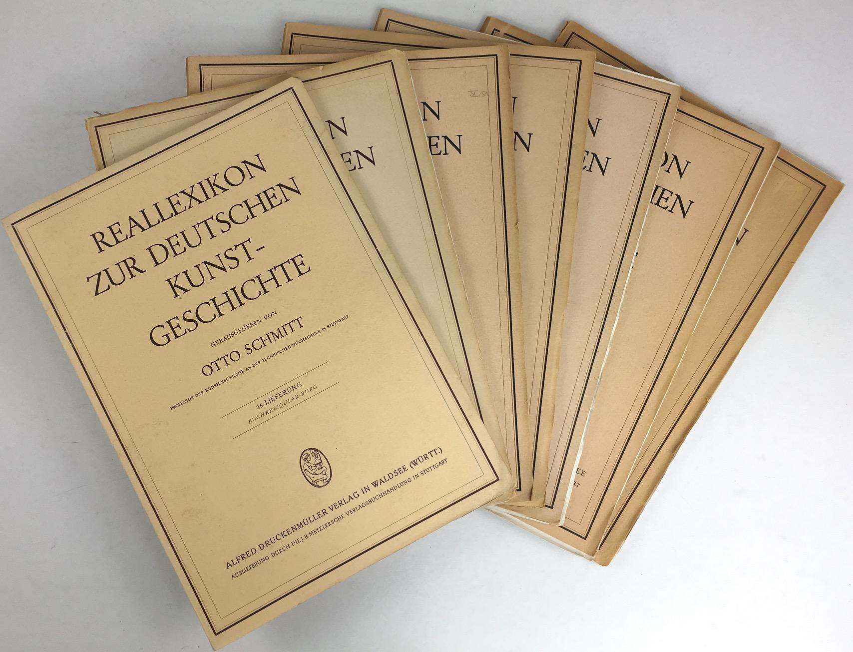 Reallexikon zur Deutschen Kunstgeschichte. 25. Lieferung (Buchreliquiare: Schmitt, Otto (bzw.)