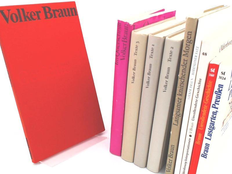 Volker Braun - 10 Bände zusammen: 1): Braun, Volker und