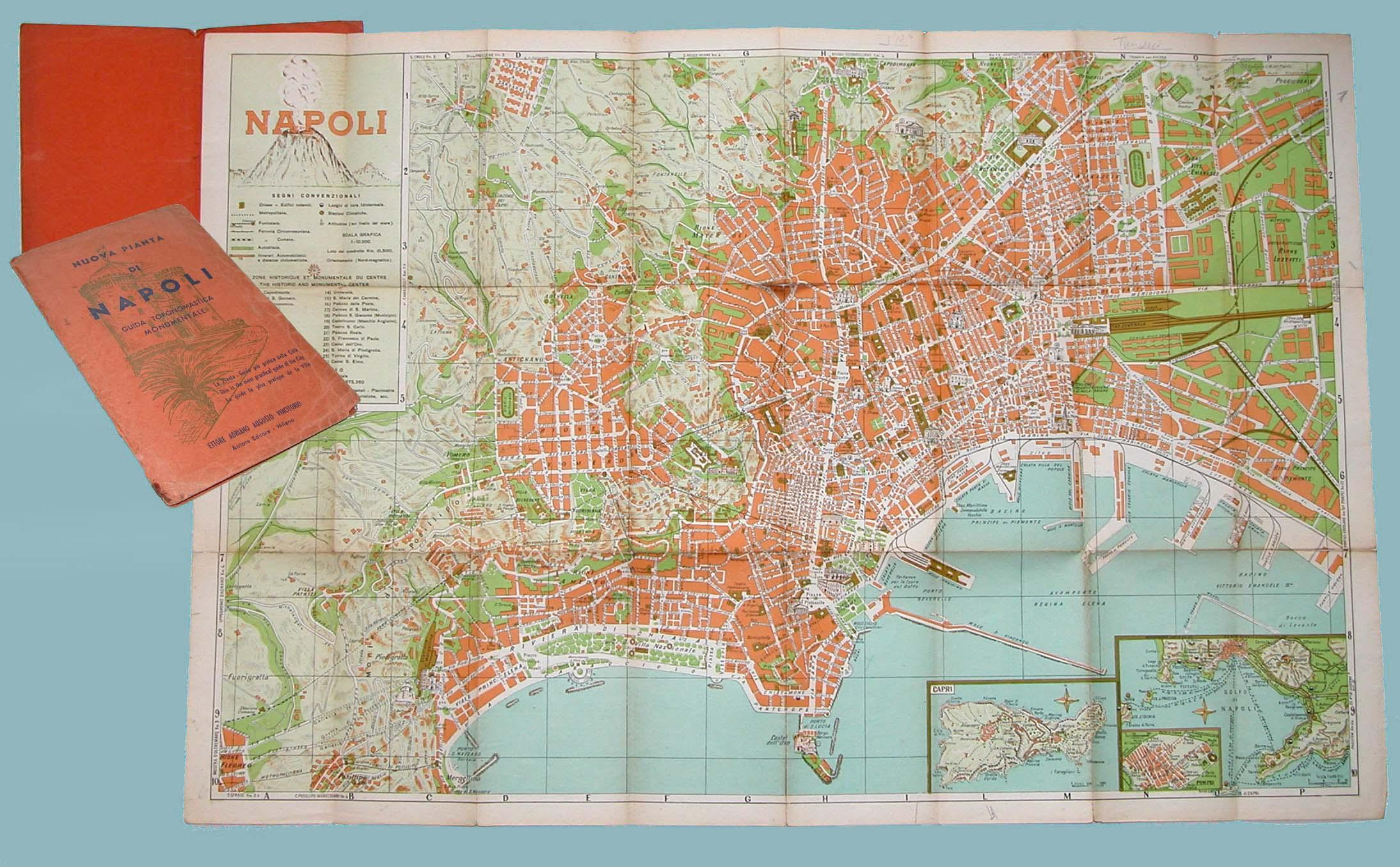 La Cartina Di Napoli.Nuova Pianta Di Napoli Mappa Studio Bibliografico Imprimatur
