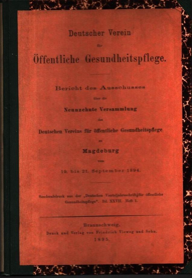 Bericht des Ausschusses über die Neunzehnte Versammlung: Deutscher Verein für