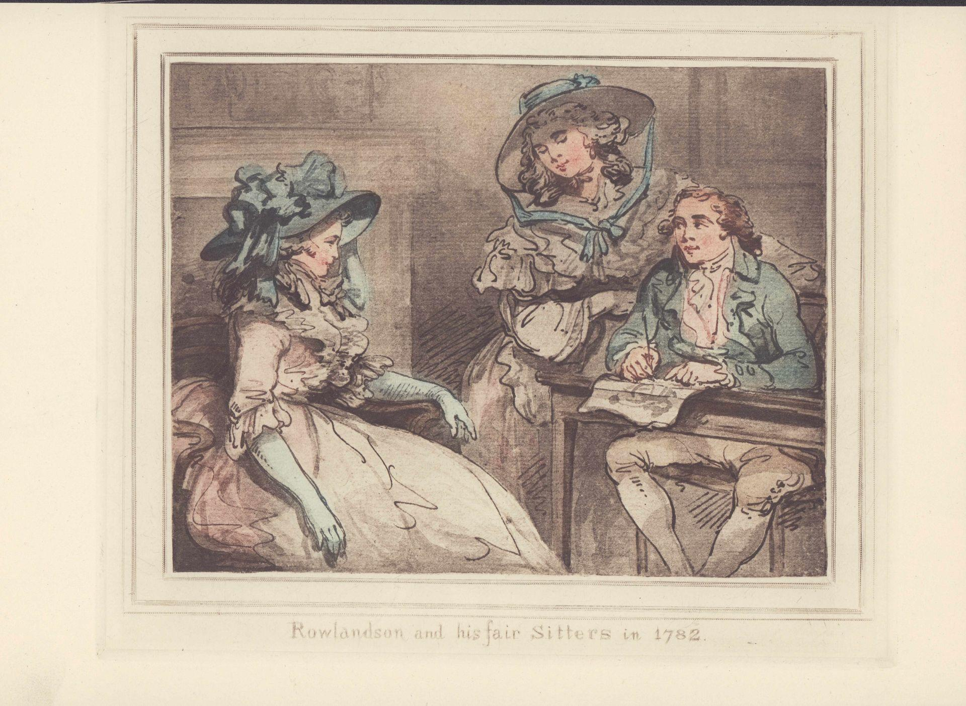Rowlandson and his fair sitters in 1782.: Rowlandson, Thomas: