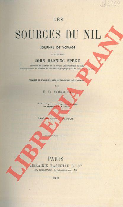 Les sources du Nil. Journal de voyage.: SPEKE John Hanning