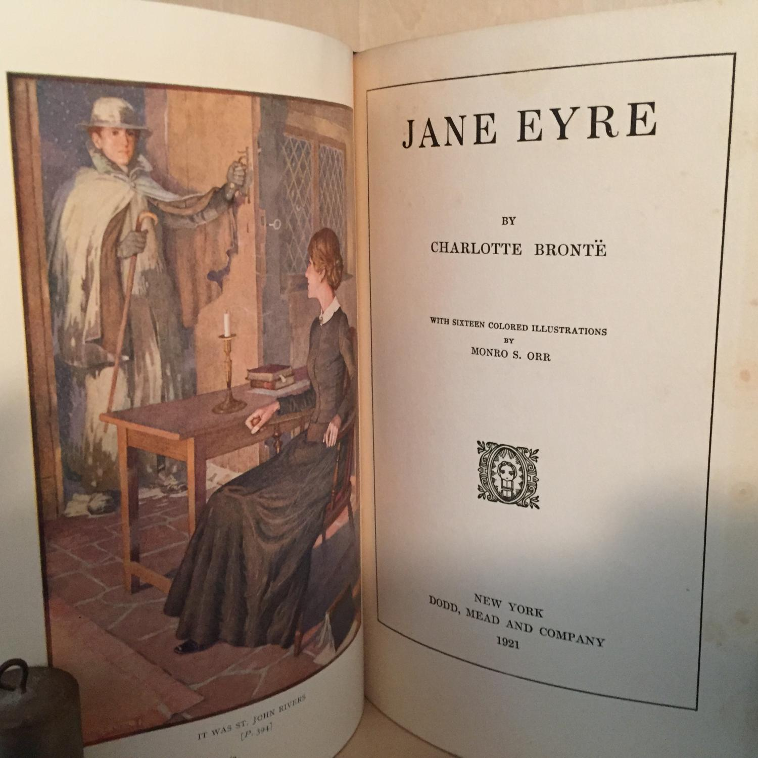 scrapbooking Jane Eyre by Charlotte Bronte Original Prints from Vintage 1900 Book Illustrations by John H Bacon card making for framing