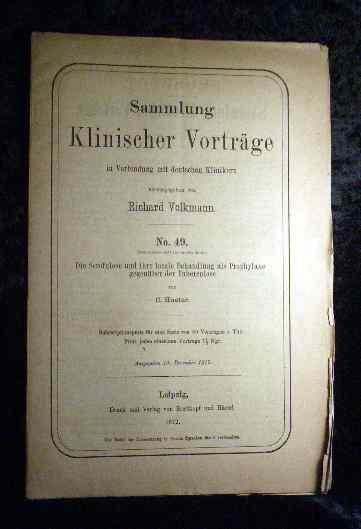 Hueter: Die Scrofulose und ihre locale Behandlung: Richard Volkmann (Hrsg.):