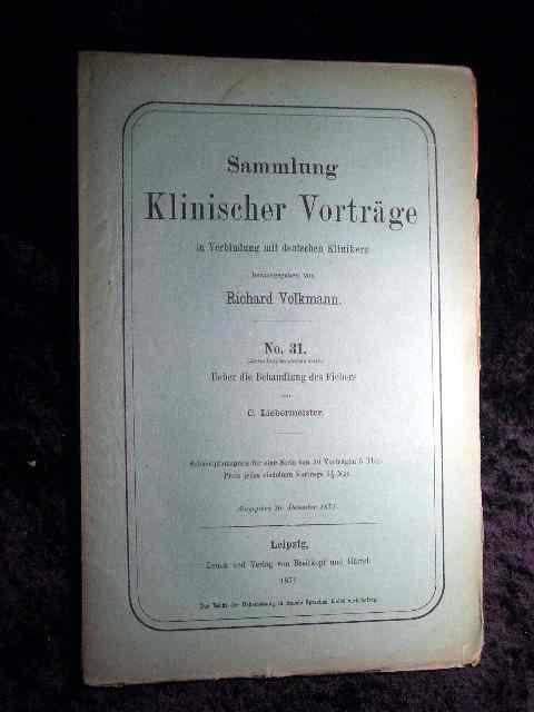 Liebermeister: Über die Behandlung des Fiebers. Sammlung: Richard Volkmann (Hrsg.):