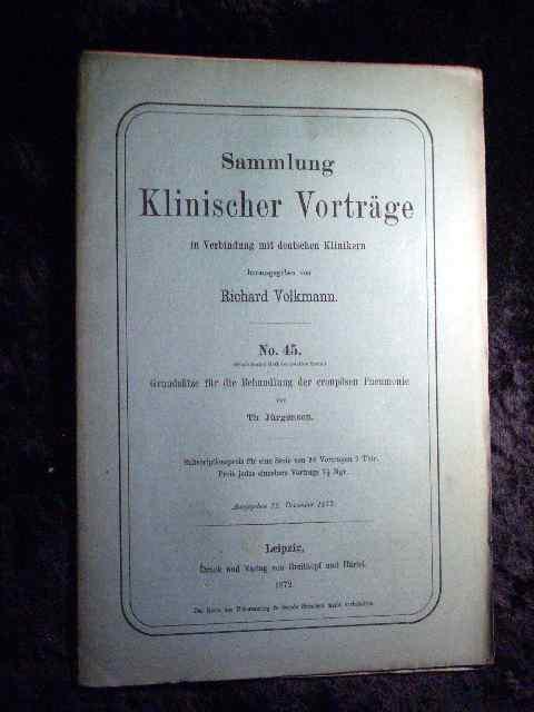 Th. Jürgensen: Grundsätze für die Behandlung der: Richard Volkmann (Hrsg.):