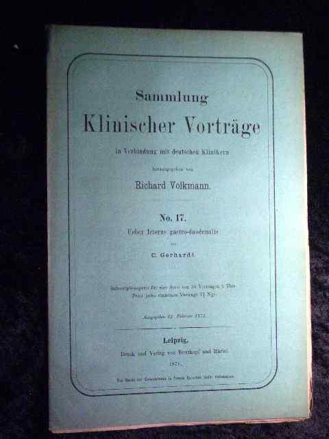 C. Gerhardt: Über Icterus gastro-duodenalis. Sammlung Klinischer: Richard Volkmann (Hrsg.):