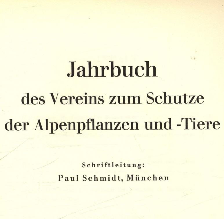Gedanken zur schleichenden Zerstörung des Bergwaldes. Jahrbuch: Schwarzenbach, Fritz-Hans: