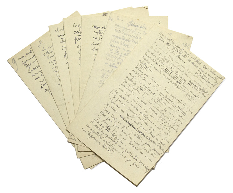 A group of 9 Autograph letters signed: Rouault, Georges