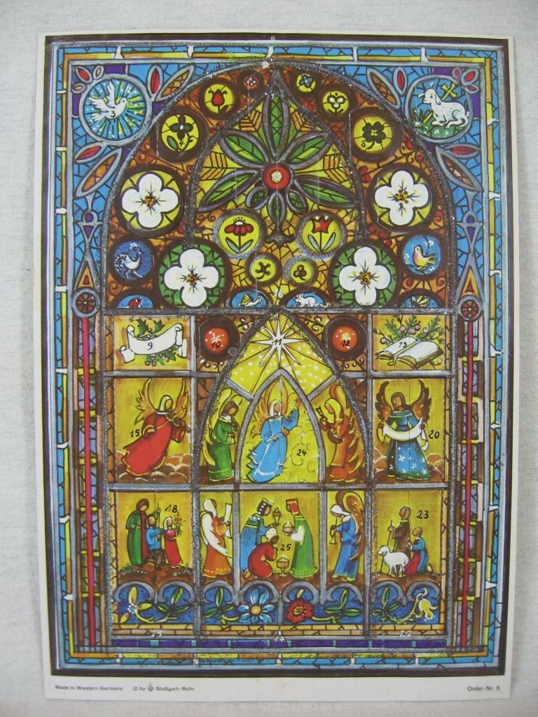 Adventskalender Kirchenfenster.