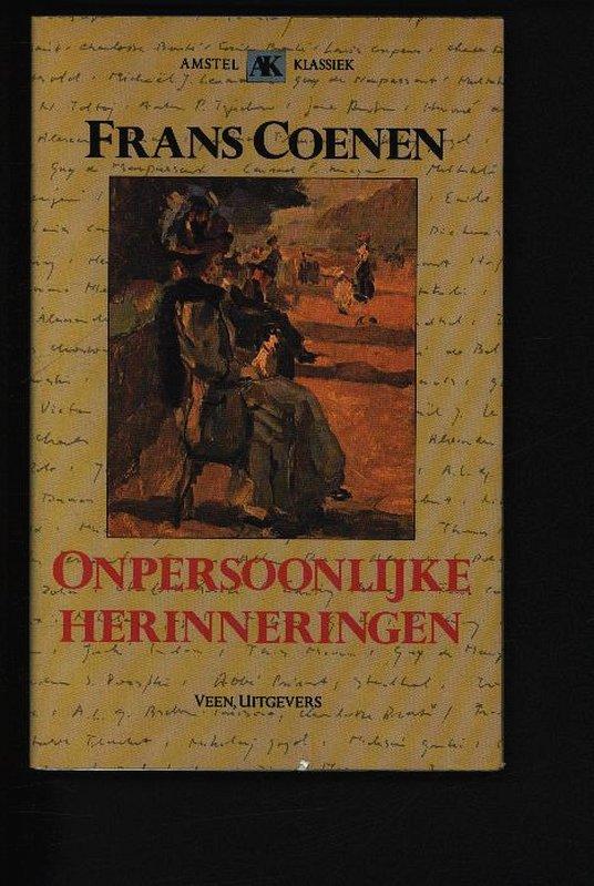 Onpersoonlijke herinneringen. .: Coenen, Frans: