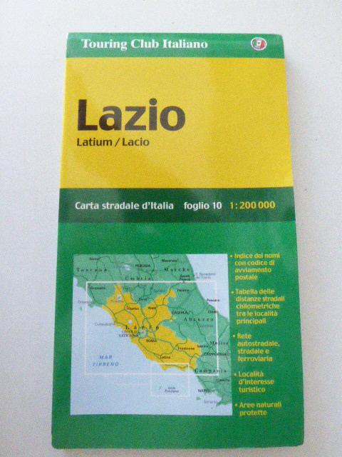 Lazio / Latium / Lacio. Foglio 10.: Touring Club Italiano