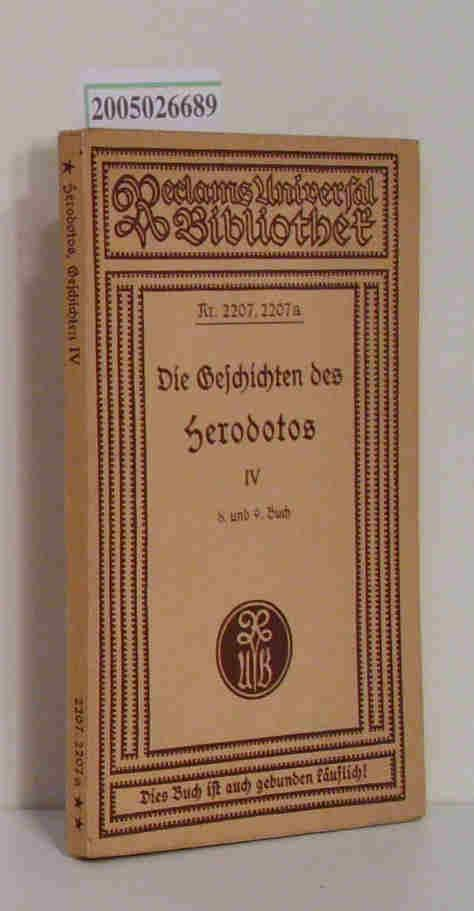 Die Geschichten des Herodotos Vierter Teil 8.: Güthling, Otto: