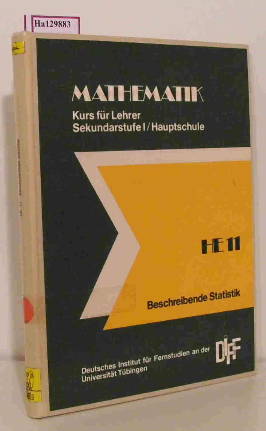 Mathematik für Lehrer der Sekundarstufe I/ Hauptschule.: Abel, H. u.