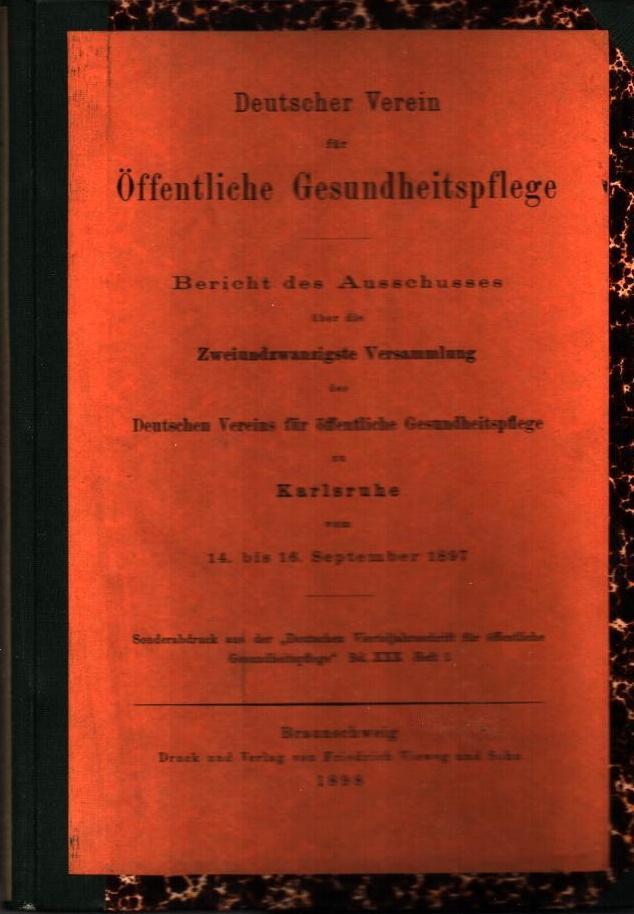 Bericht des Ausschusses über die zweiundzwanzigste Versammlung: Deutscher Verein für