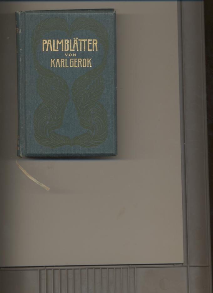 Palmblätter.: Gerok, Karl: