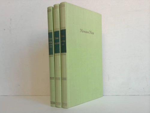 3 verschiedene Bände: Hesse, Hermann
