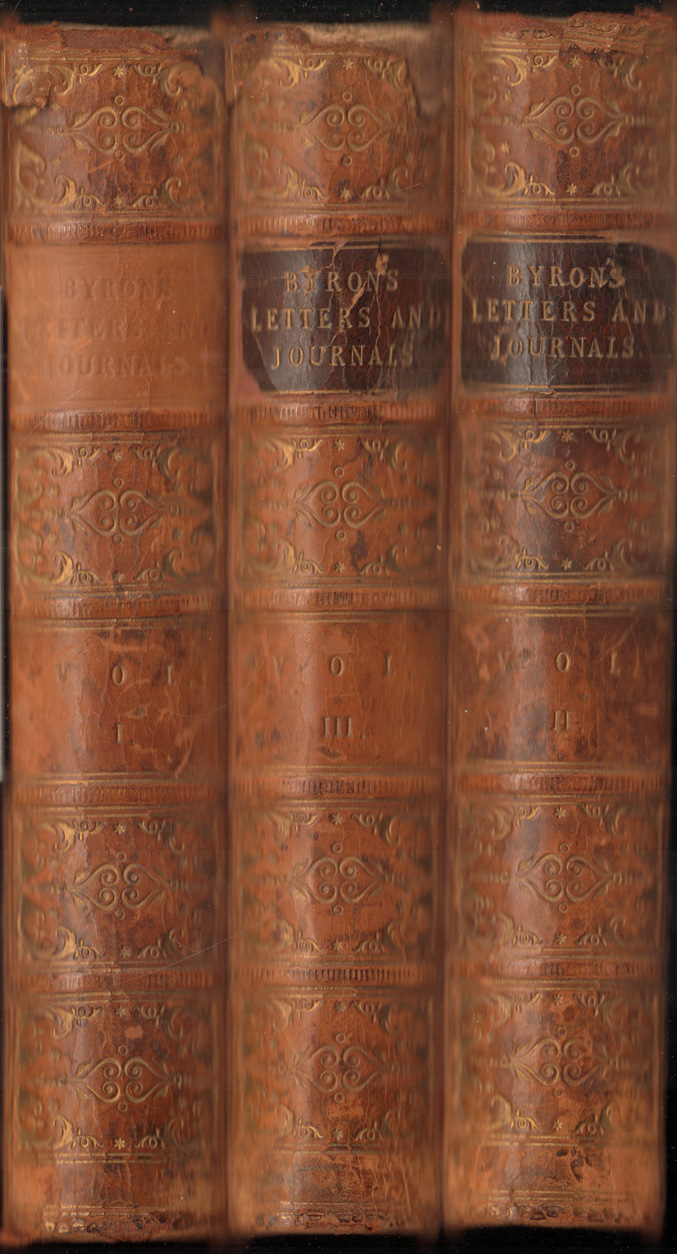Letters and Journals of Lord Byron. With: Moore, Thomas.:
