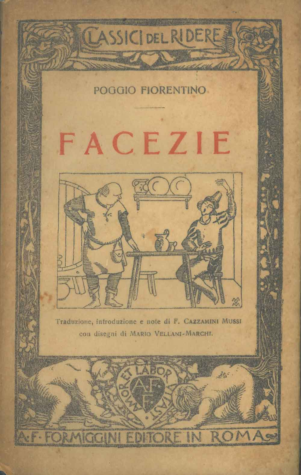 Facezie. traduzione, introduzione e note di F.: Fiorentino Poggio