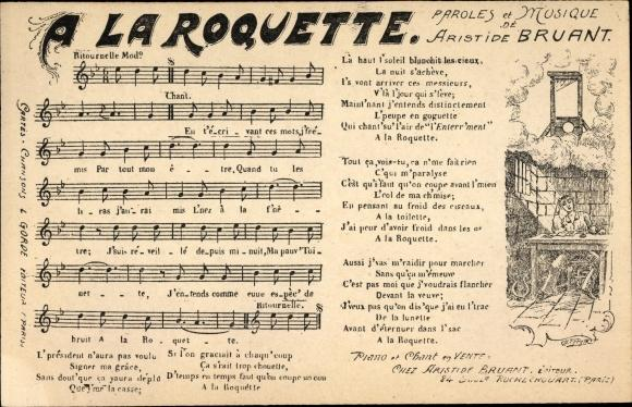 Lied Ansichtskarte / Postkarte A la Roquette,