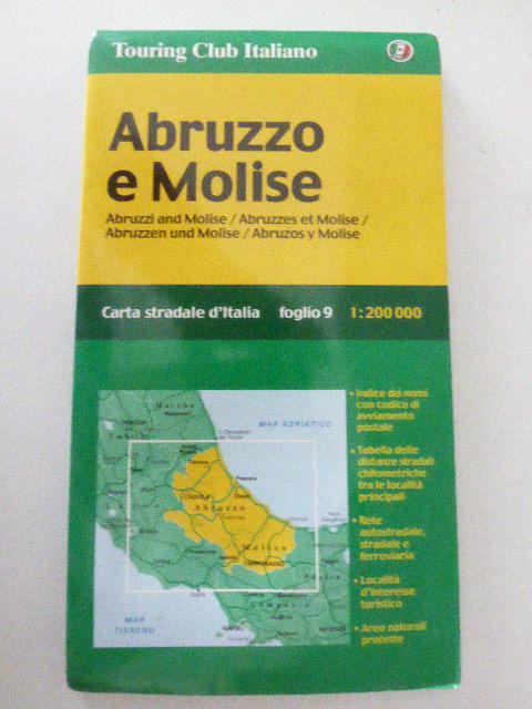 Abruzzo e Molise. Abruzzen und Molise. Foglio: Touring Club Italiano