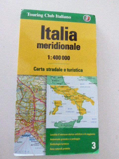 Italia meridionale / Süditalien. Straßenkarte 1:400.000. Faltkarte: Touring Club Italiano