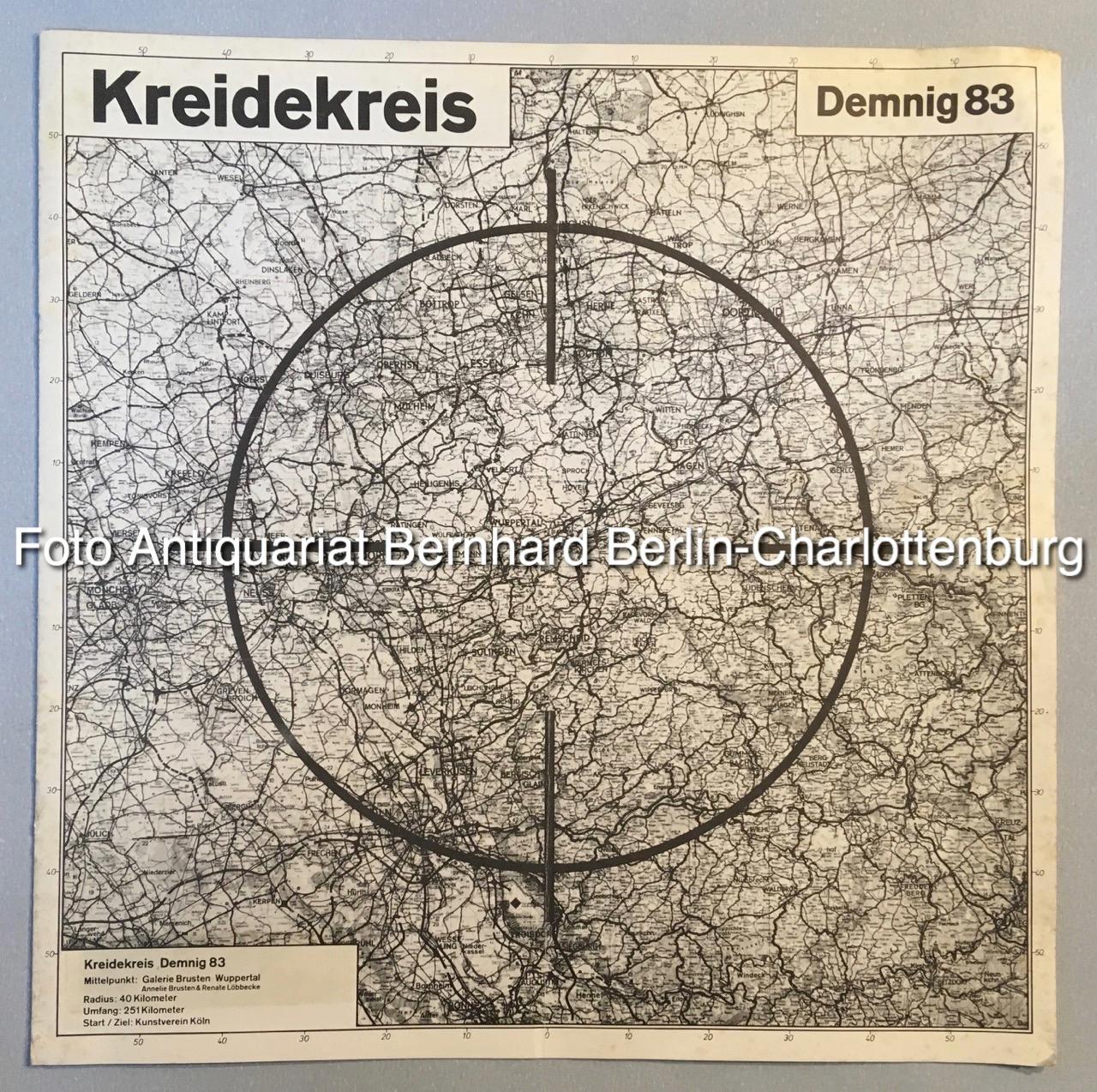 Kreidekreis Demnig 83 [dreiundachtzig] (Katalog und Karte: Demnig, Gunter