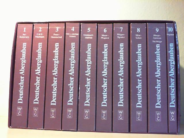 Handwörterbuch des deutschen Aberglaubens 10 Bände. Unveränderter: Bächtold-Stäubli, Hanns /