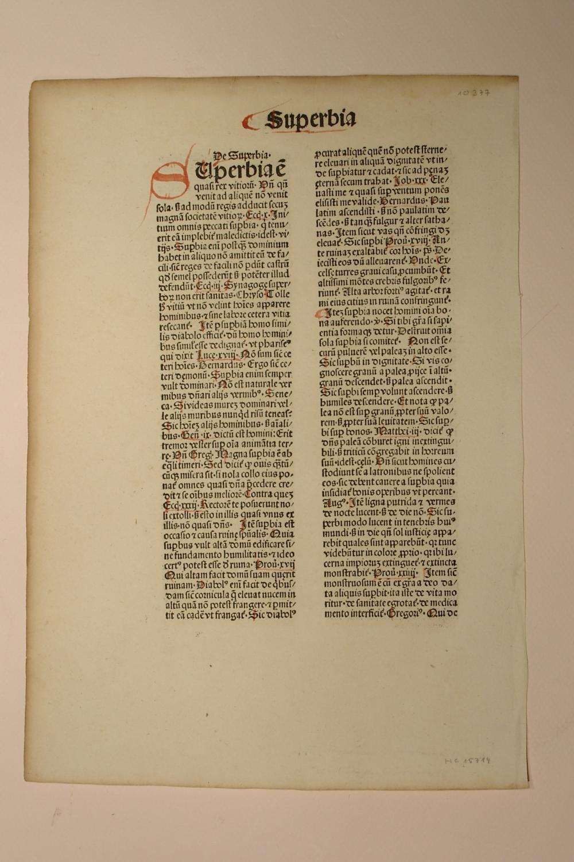 Flos theologiae. (GWM 48236, HC 15714). Blatt: Nicolaus de Byard: