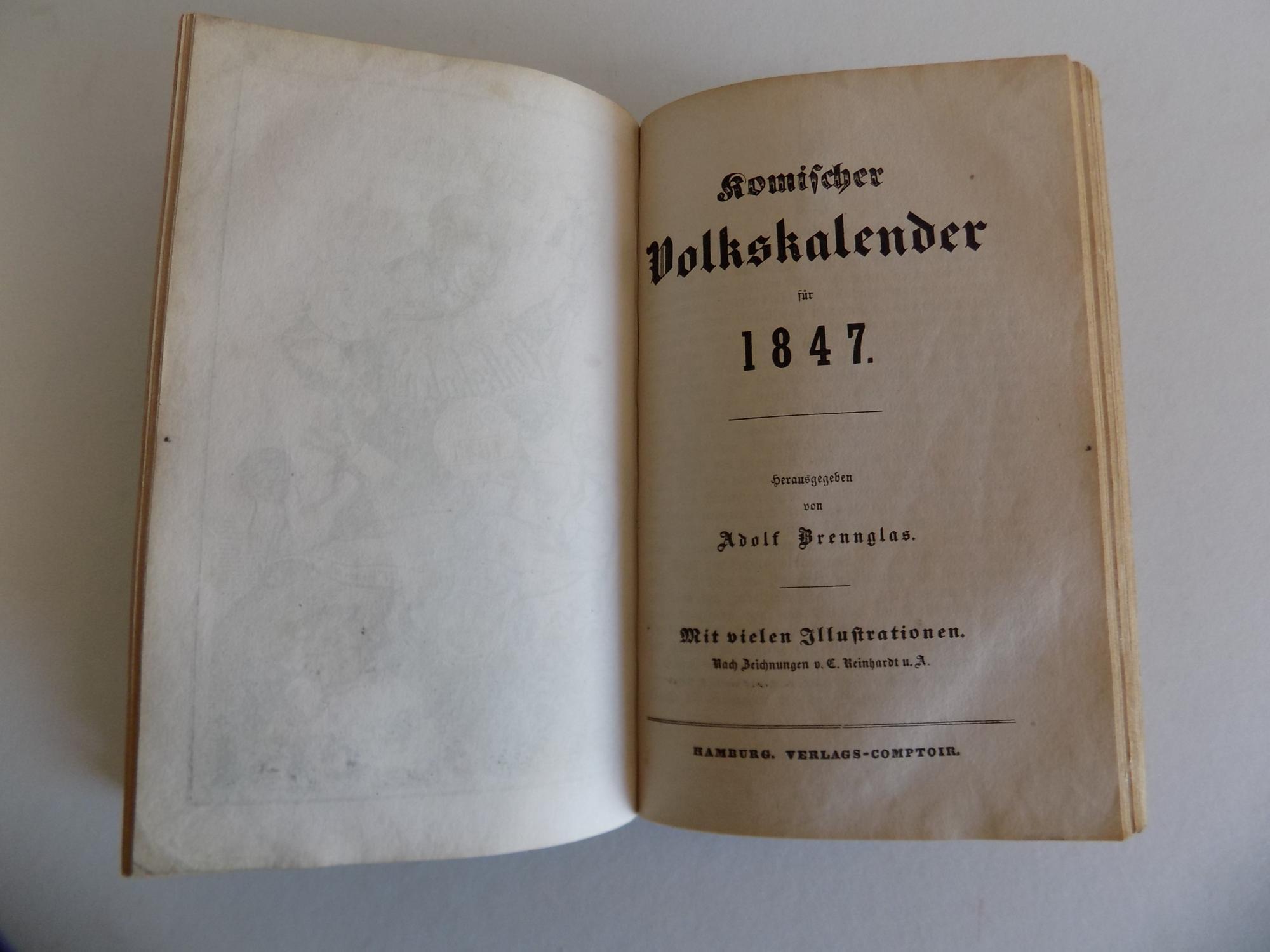 Komischer Volkskalender für 1847. Mit vielen Illustrationen.: Glasbrenner, Adolf (hier