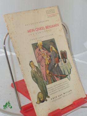 Mein Onkel Benjamin : Aus dem Roman: Tillier, Claude