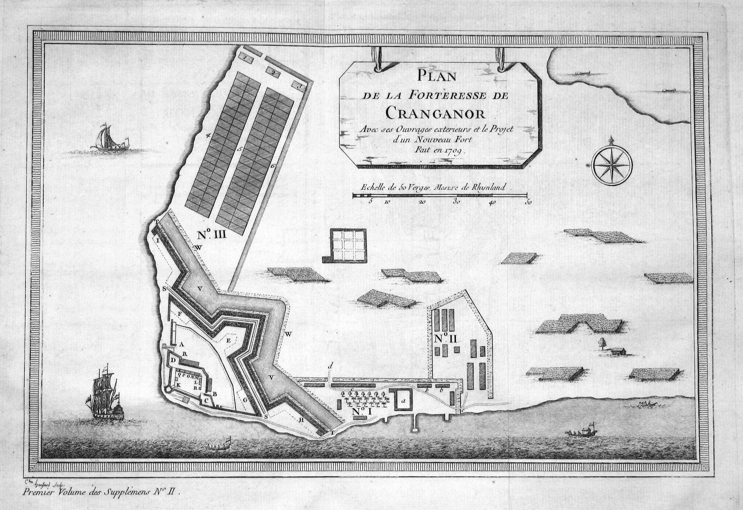 "Plan de la Forteresse de Cranganor"" -: Bellin, Jacques-Nicolas:"