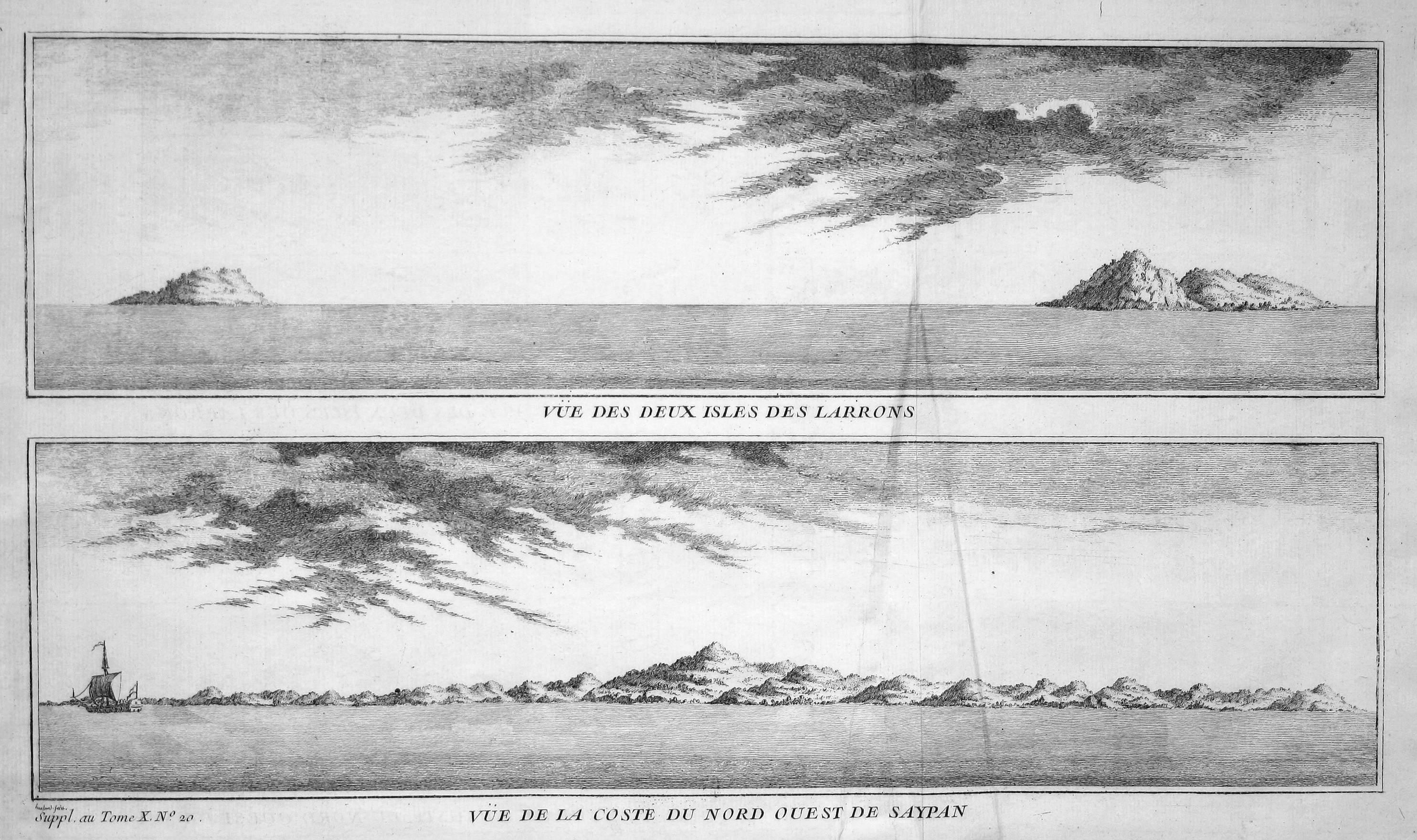 Vue des deux Isles des Larrons /: Bellin, Jacques-Nicolas:
