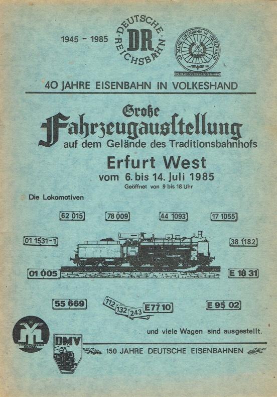 Große Fahrzeugausstellung auf dem Gelände des Traditionsbahnhofs: Deutsche Reichsbahn, Reichsbahndirektion