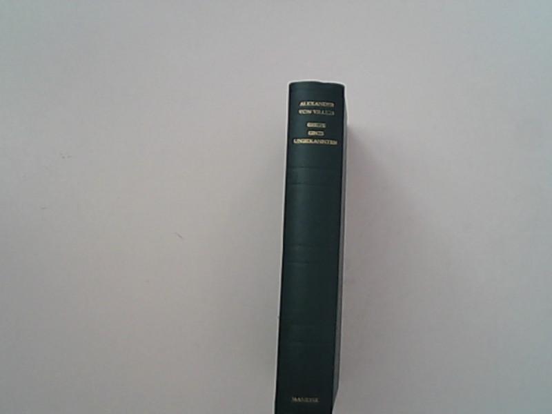 Briefe eines Unbekannten.: von Villers, Alexander,