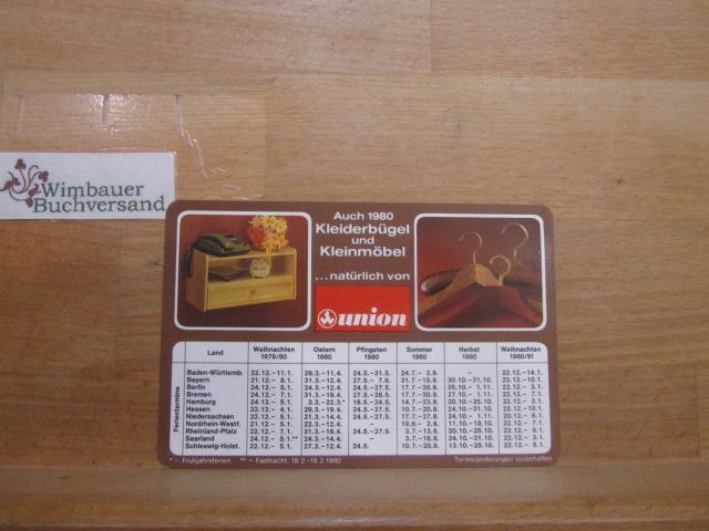 Original Taschenkalenderkarte Kleiderbügel Kleinmöbel Union 1980: Union :