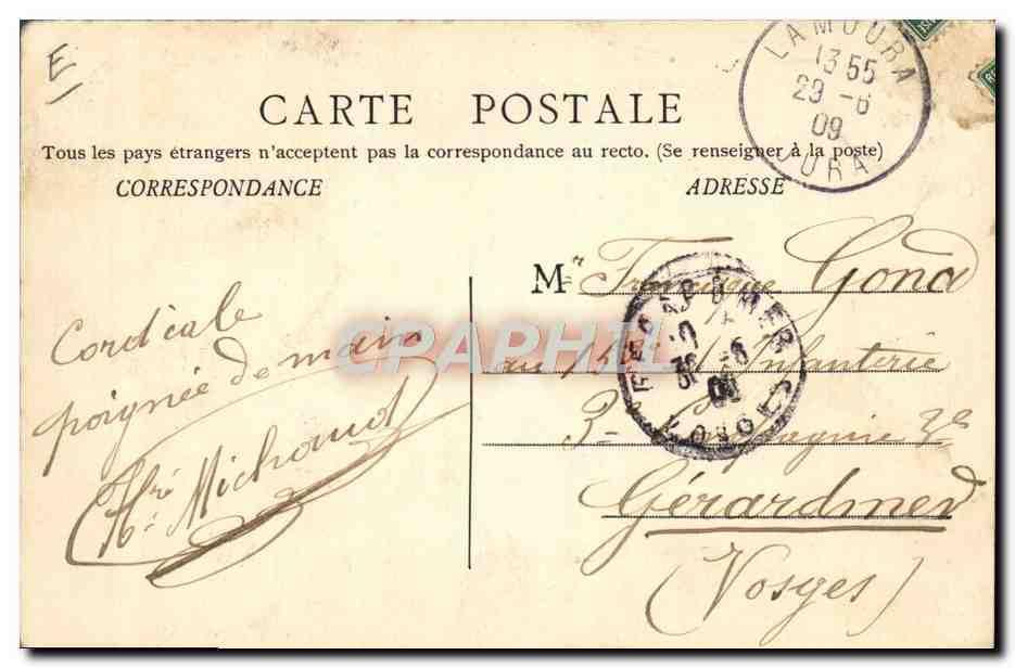 Carte Postale Ancienne MorezSports d'hiver Ski Concours des 31 janvier 1 2 3 fevrier 1909 Course ...