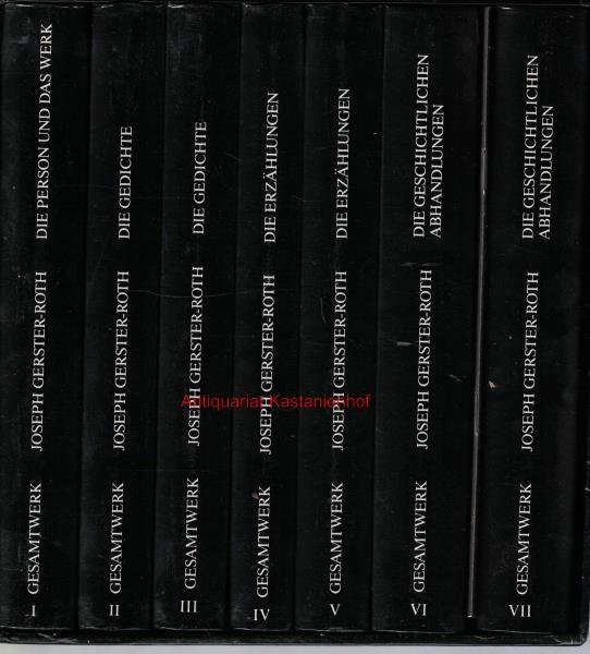 sieben (7) Bände: Joseph Gerster-Roth 1860-1937. Das: Gerster-Roth, Joseph; Gerster,