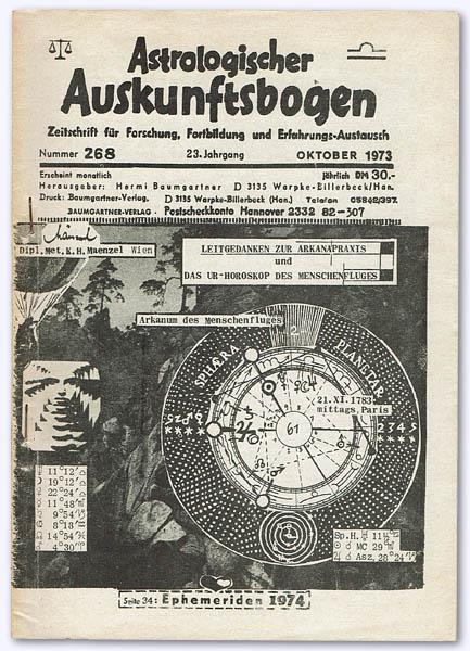 Astrologischer Auskunftsbogen. 23. Jhg. 1973, Nummer 268: Baumgartner, Hermi (Hrsg.):