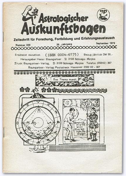Astrologischer Auskunftsbogen. 29. Jhg. 1979, Nummer 339: Baumgartner, Hermi (Hrsg.):