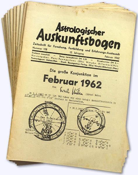 Astrologischer Auskunftsbogen. 12. Jhg. 1962, Nr. 128-136: Baumgartner, Hans (Hrsg.):