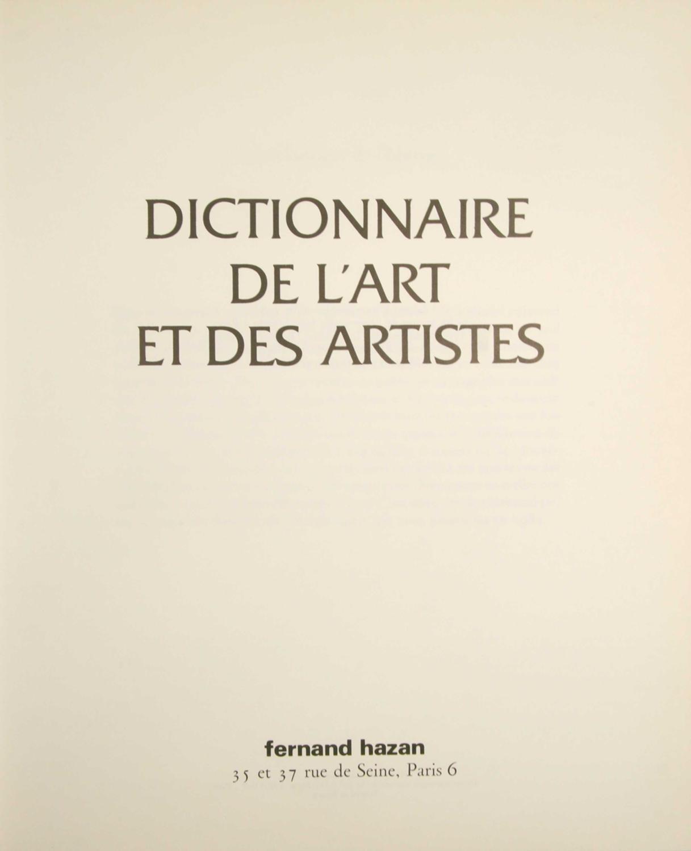 Dictionnaire de l'art et des artistes.: HAZAN, Fernand