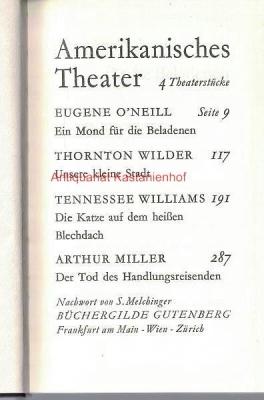 Amerikanisches Theater. 4 Theaterstücke, Nachwort von S.: Melchinger, S.; O