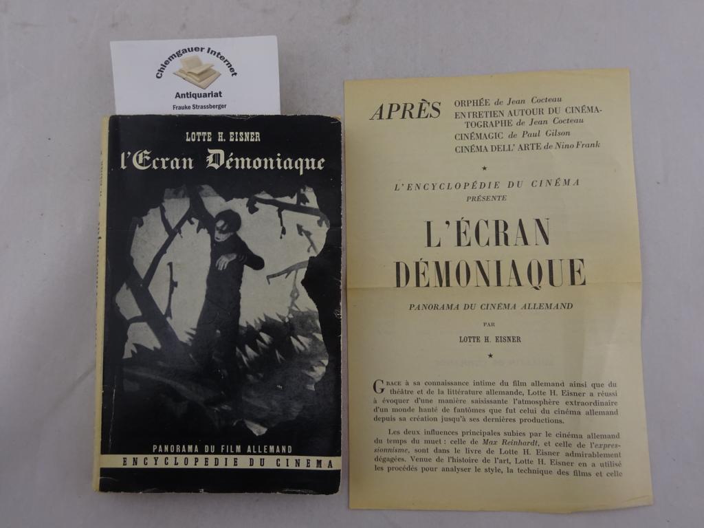 L Ecran Demoniaque. Influence de Max Reinhardt et: Eisner, Lotte H.: