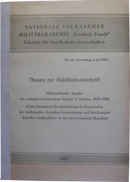 Thesen zur Habilitationsschrift. Militärpolitische Aspekte des national-revolutionären: Kühne, Horst: