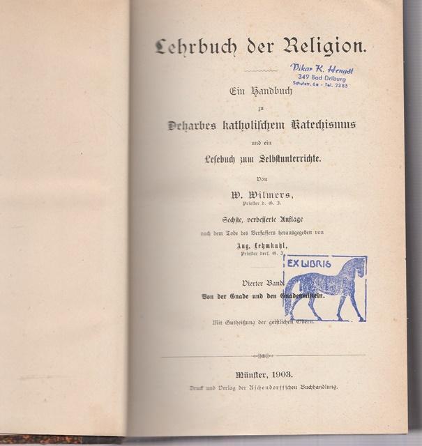 Lehrbuch der Religion. Ein Handbuch zu Deharbes: Wilmers, W.: