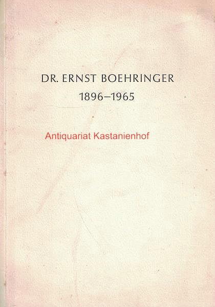 Dr. Ernst Boehringer 1896 - 1965,Trauerfeier für: Weizsäcker, Richard von;
